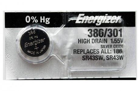 סוללת כפתור אנרג'יזר SR-43 מתח 1.55 וולט