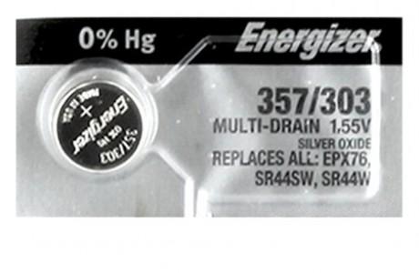 סוללת כפתור אנרג'יזר  SR-44 מתח 1.55 וולט